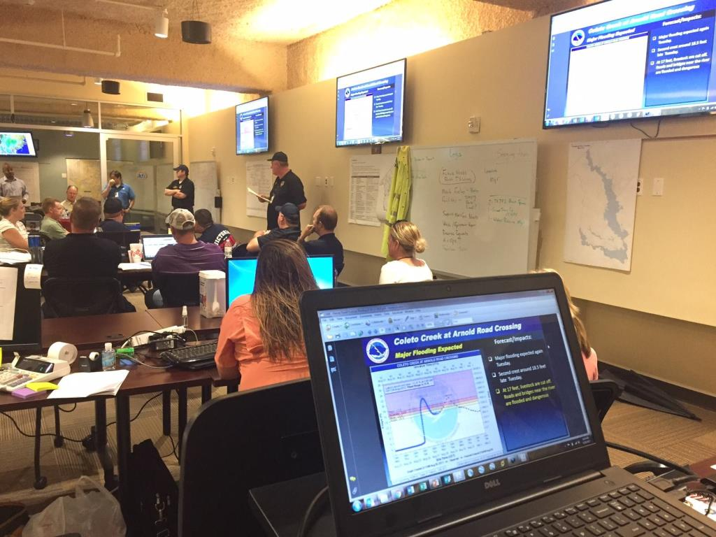 Emergency Operations Center during Hurricane Harvey