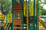 Tall structure for climbing at Children's Park